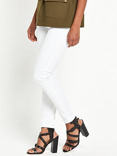 river-island-twill-zip-skinny-trousers