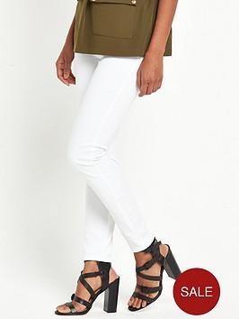 river-island-twill-zip-skinny-trousers