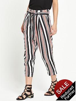 river-island-stripe-belted-waist-trouser