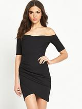 Bardot Bodycon Dress - Black
