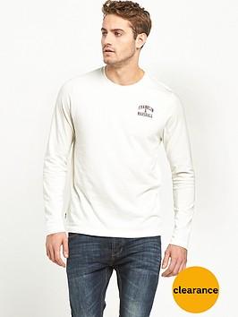 franklin-marshall-small-logo-ls-tshirt