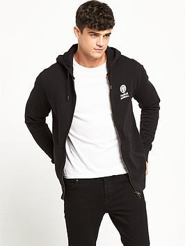 franklin-marshall-small-logo-zip-through-hood