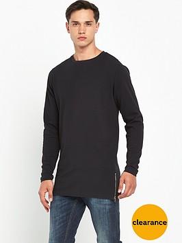 bellfield-longline-zip-ls-tshirt