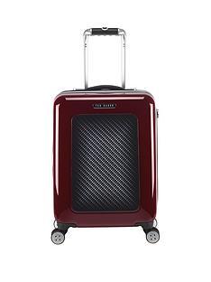 ted-baker-herringbone-burgundy-4-wheel-hard-cabin-case
