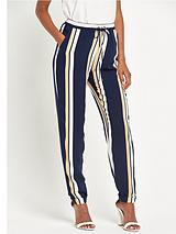 Striped Print Tapered Trousers