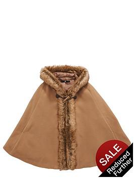 v-by-very-girls-faux-fur-trim-cape