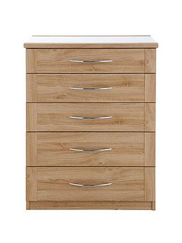 buckingham-5-drawer-glass-top-chest