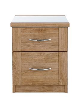 buckingham-2-drawer-glass-top-bedside-cabinet