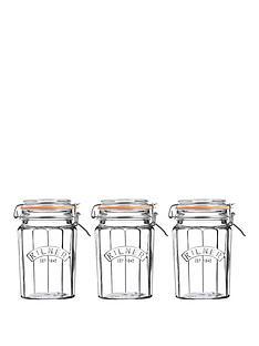 kilner-facet-jars-095-litre-set-of-3