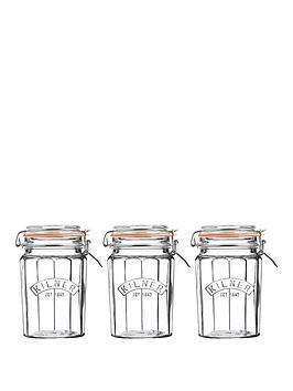 kilner-set-of-3-095lt-facet-jars