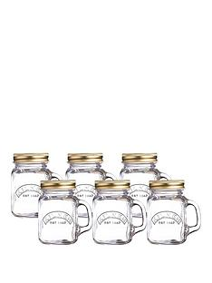 kilner-kilner-mini-handled-jars-set-of-6-140ml