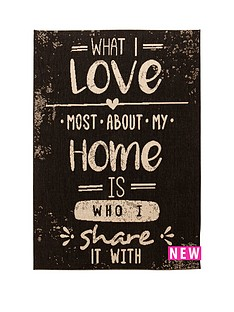 love-rules-flatweave-rug-black