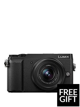 panasonic-lumix-dmc-gx80-compacyt-system-16mp-4k-wifi-12-32mm-lens-black-free-shouldernbspcamera-bag