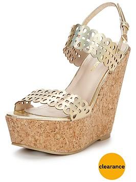 glamorous-laser-cut-metallic-wedge-sandal-gold