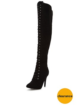 glamorous-lace-up-over-the-knee-boot
