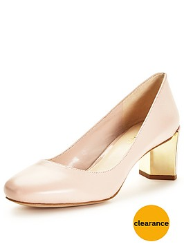 nine-west-frannynbspgold-heel-court-shoesnbsp