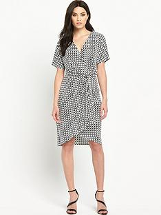 v-by-very-belted-waist-wrap-front-tea-dress-in-houndstooth
