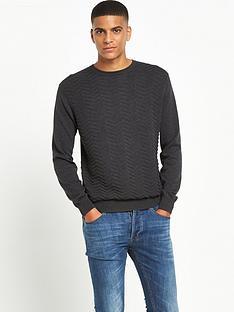peter-werth-crew-neck-textured-knitted-jumper