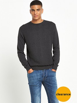 peter-werth-crew-neck-textured-knitted-jumper