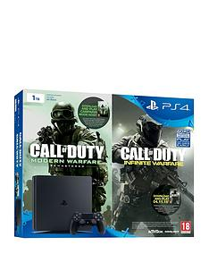playstation-4-slim-1tb-console-with-call-of-duty-infinite-warfare-early-access-bundle-plus-optional-extra-controller-andor-12-months-playstation-network