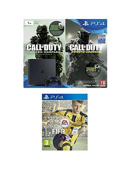 playstation-4-slim-1tb-console-with-call-of-duty-infinite-warfare-early-access-bundle-and-fifa-17-plus-optional-extra-controller-andor-12-months-psn