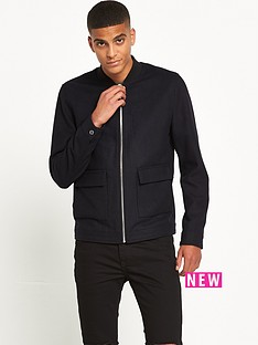 river-island-smart-melton-bomber-jacket