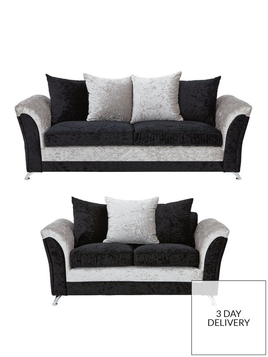 3505e1ca8b Zulu 3-Seater + 2-Seater Fabric Sofa Set (Buy and SAVE!) | very.co.uk
