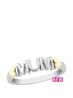the-love-silver-collection-sterling-silver-and-yellow-gold-plated-mum-ring