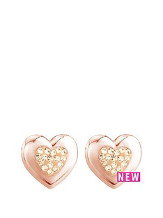 the-love-silver-collection-sterling-silver-rose-gold-plated-crystal-set-and-polished-heart-earring