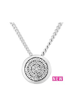 the-love-silver-collection-sterling-silver-cubic-zirconia-round-stone-set-pendant