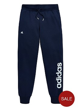 adidas-adidas-older-girls-linear-logo-fleece-pant