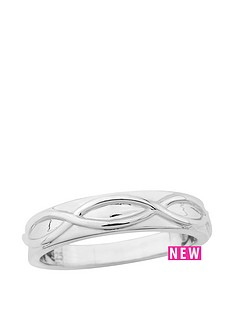 the-love-silver-collection-sterling-silver-wave-detail-ladies-ring