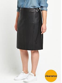 v-by-very-curve-pu-wrap-skirt