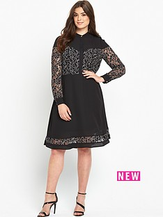 so-fabulous-mono-lace-insert-shirt-dress