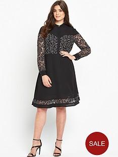 so-fabulous-mono-lace-insert-shirt-dress