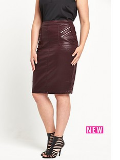 so-fabulous-coated-zip-front-skirt-burgundy