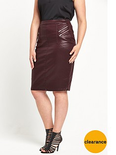 v-by-very-curve-coated-zip-front-skirt-burgundy