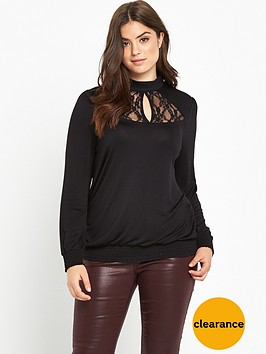 v-by-very-curve-lace-insert-prarie-shirred-top