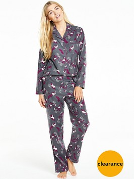 v-by-very-flannel-pyjama-set