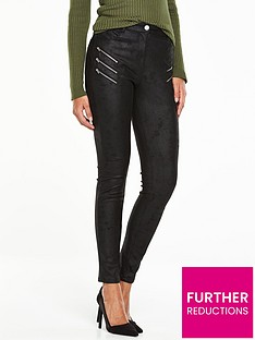 v-by-very-multi-zip-supersoft-textured-biker-jean-black