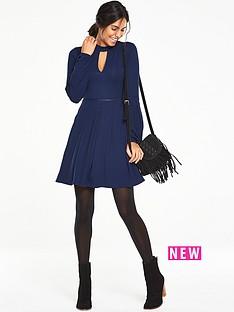 v-by-very-petite-trim-detail-tea-dress