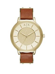 armani-exchange-armani-exchange-gold-dial-light-brown-leather-strap-ladies-watch