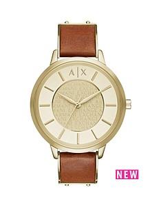 armani-exchange-armani-exchange-gold-dial-light-brown-leather-strap-ladies-watch