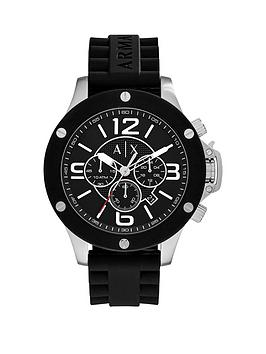 armani-exchange-black-dial-and-silicone-strap-mens-watchnbspbr-br