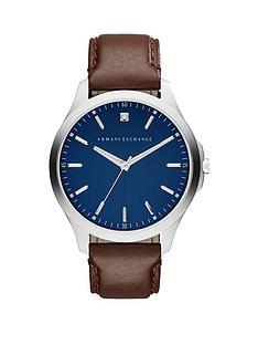 armani-exchange-blue-dial-brown-leather-strap-mensnbspwatchnbspbr-br