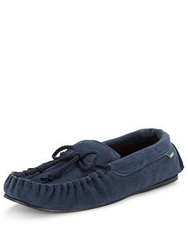 dunlop-suede-moccasin-slipper-navy
