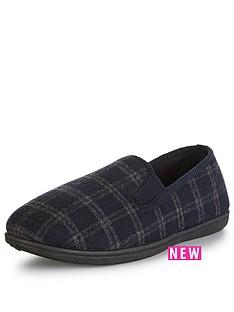 clarks-king-twin4-slipper-navy-check