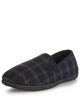 clarks-king-twin4-slipper-navy-check