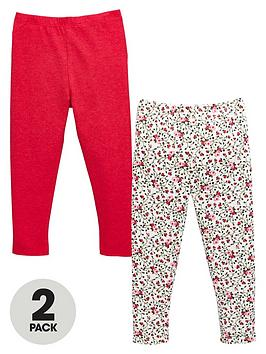 mini-v-by-very-girls-floral-and-solid-colour-leggings-2-pack