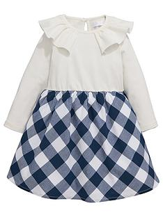mini-v-by-very-girls-frill-neck-jersey-check-dress